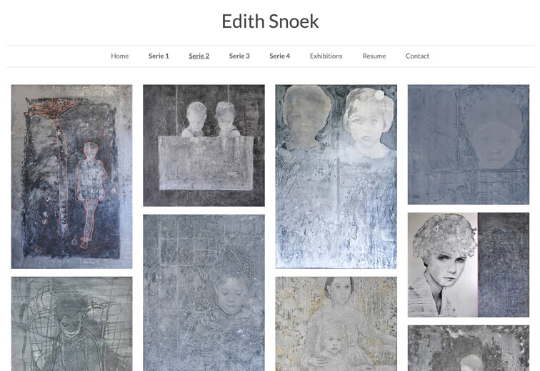 portfolio website Edith Snoek