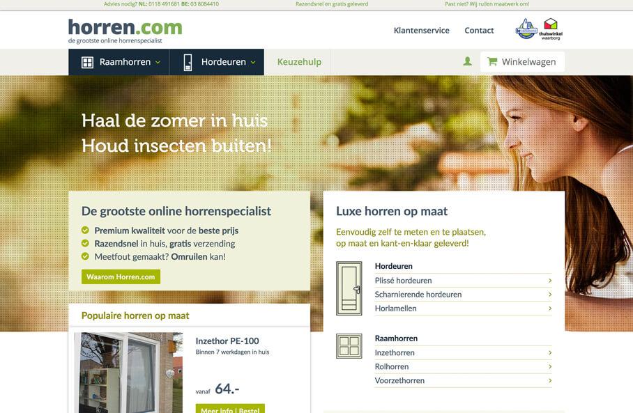 Webshop Horren.com ontwikkeld door PLint-sites