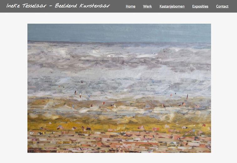 portfolio website Ineke Tesselaar